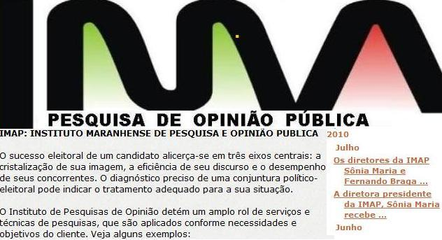 O site do instituto ao lado mostra o nome dos dirigentes.