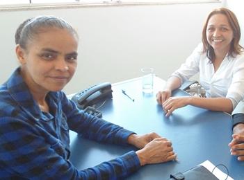 Marina Silva reunida com Eliziane Gama.
