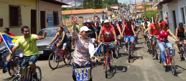 Amigos e simpatizantes de Mary Guerreiro promovem a maior pedalada da Baixada maranhense