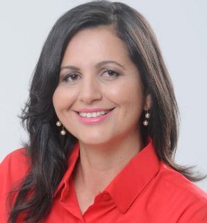 A candidata a prefeita Eudina.