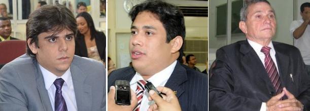 Os vereadores Severino Sales, Osmar Filho e Chico Carvalho.