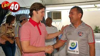 Leo Coutinho ao lado do coronel Franklin Pacheco.