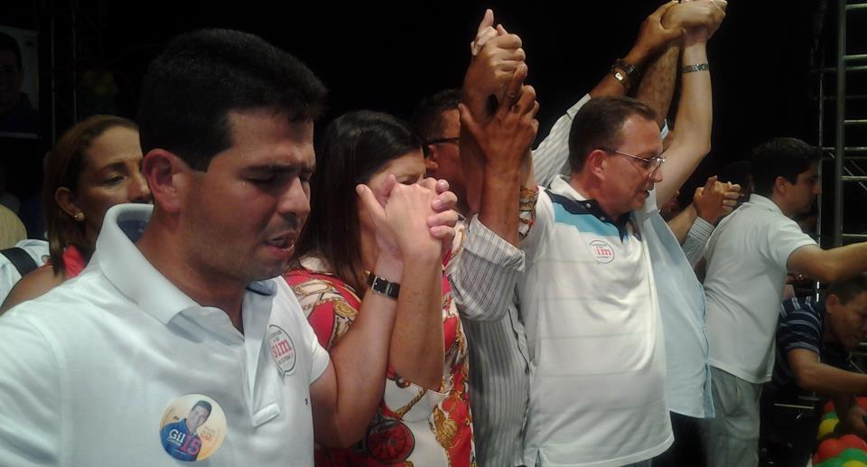 Gil Curim, Roseana Sarney e Luis Fernando.
