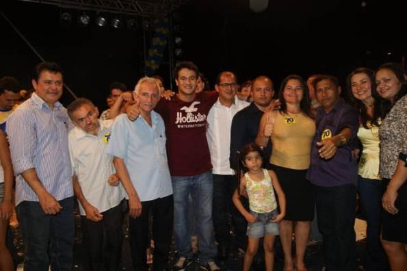 O deputado Rigo, Carlito e familiares.