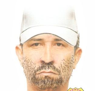 Retrato falado do suspeito de matar secretário em  Santa Luzia do Tide.