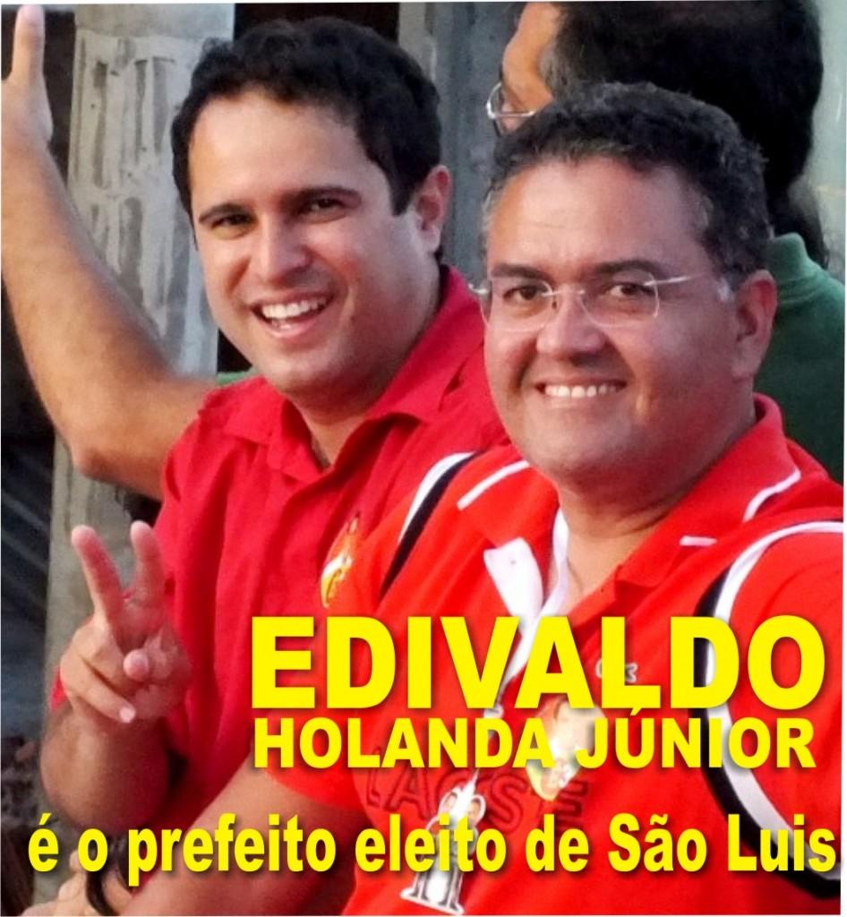 Holanda Júnior ao lado de Roberto Rocha (Foto: Blog do Louremar Fernandes)