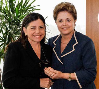 Roseana em Brasilia com Dilma.