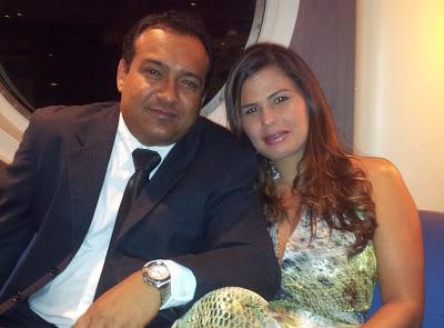 Prefeito eleito Júnior Cascarias e sua esposa.