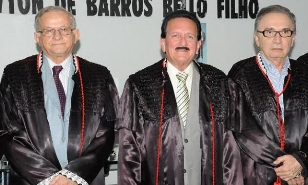 Jorge Pavão, Edmar Cutrim e Nonato Lago formam a nova Mesa Diretora do TCE.