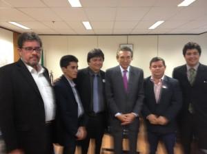 Ministro Lobão e prefeitos