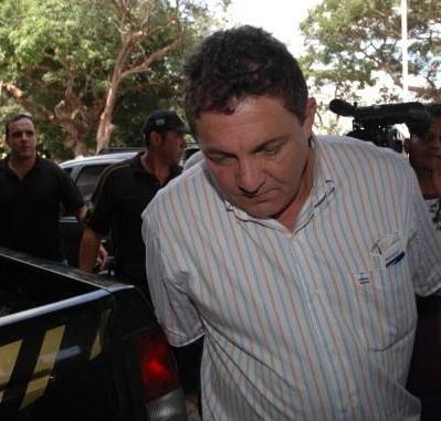 Cleomar Tema quando foi preso pela Polícia Federal.