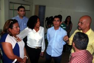 Vereadora Rose Sales e o Vereador Manoel Rego acompanharam a vistoria