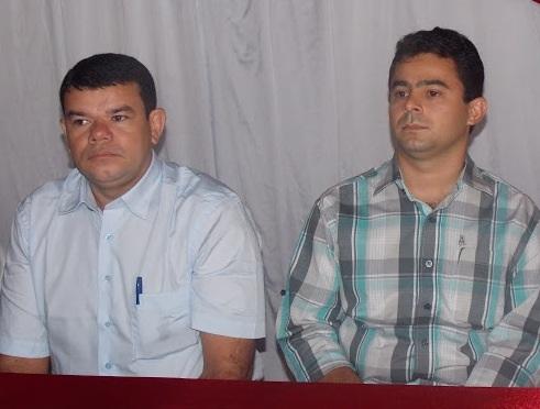 Prefeito Erick Costa e vereador professor Roberto