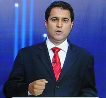 Prefeito Edivaldo Holanda, durante o debate da campanha eleitoral. Apenas mentiras