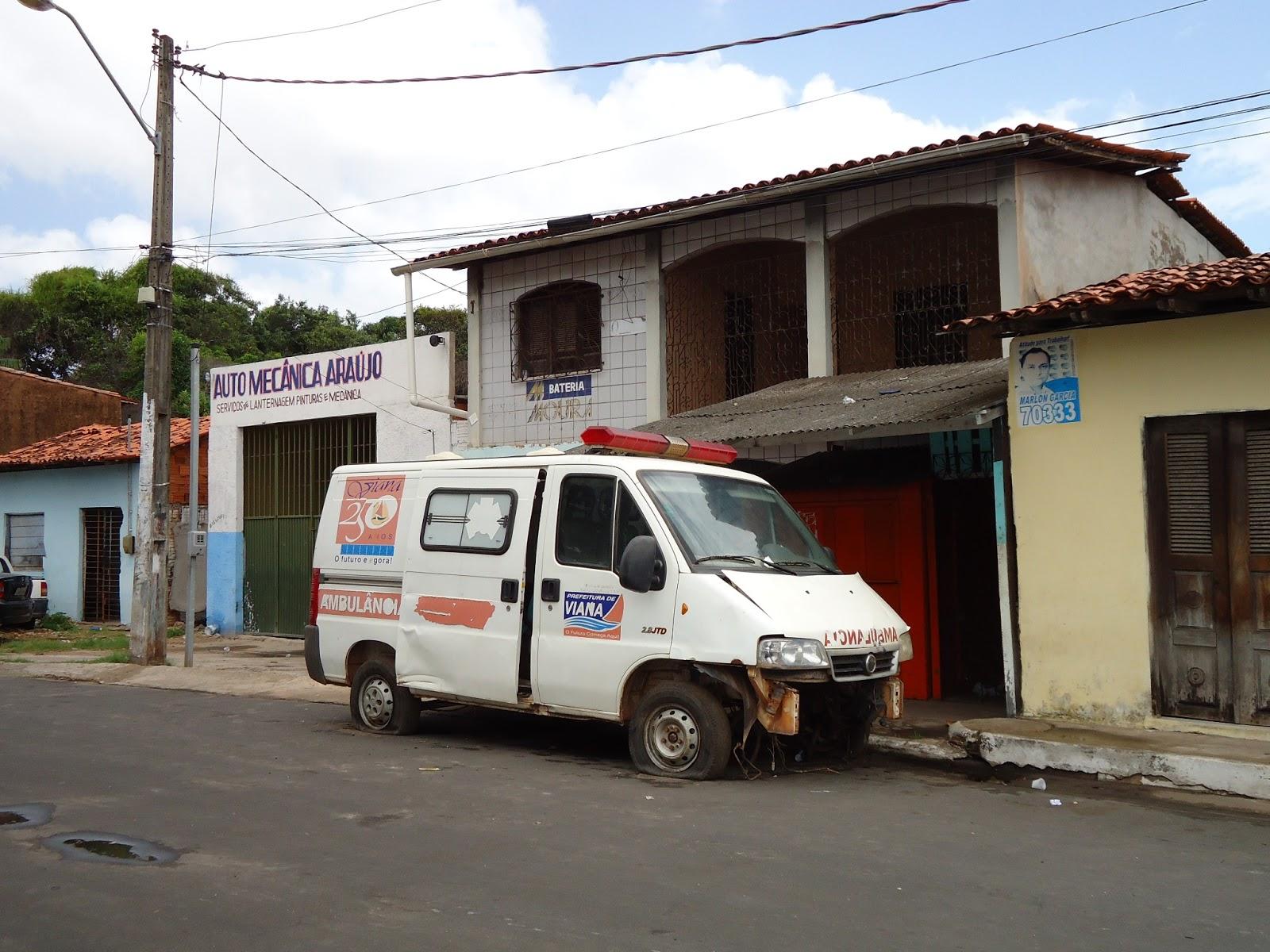ambulância abandonad