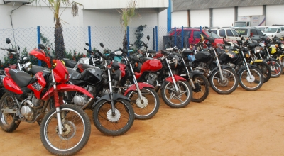Diversas motos estão entre as opções para quem quer participar do leilão