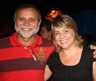 Ex-prefeito Nilton e sua esposa