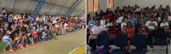 Em Carutapera o evento foi realizado na Quadra da Cidadania. Já em Bacabal os presentes manifestaram apoio à campanha