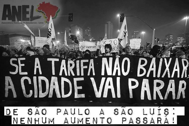 Movimento 'Vem Pra Rua São Luís' cobrará de Edivaldo a redução do valor do transporte coletivo na capital. Foto: Reprodução / Facebook