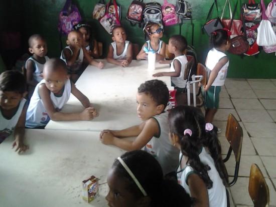 Os alunos da creche não recebem merenda