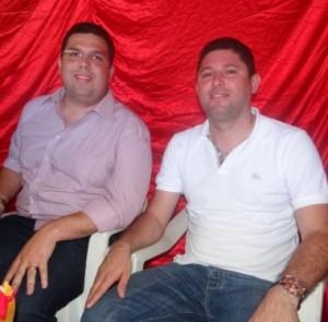 Pré-candidato Fábio Macedo e o prefeito Hernando Macedo