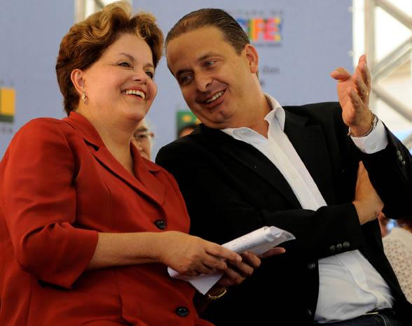 Dilma e Campos: antes amigos.