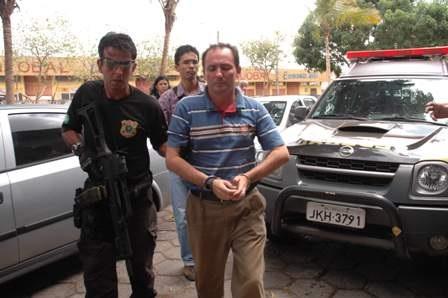 Ex-prefeito Luiz Gonzaga Fortes quando foi preso pela Polícia Federal em dezembro de 2007.