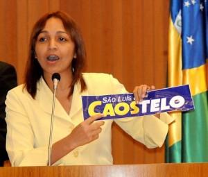 Eliziane Gama bateu forte no PSDB, mas agora chora pelo apoio do partido