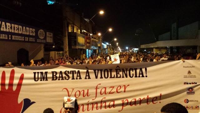 Protesto no Cohatrac: população clama por segurança.