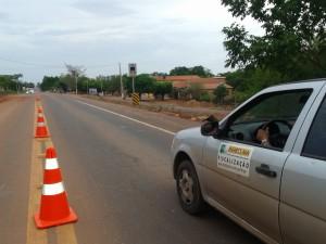 Barreira eletrônica aferida pelo Inmeq MA, localizada na BR-315, Km 327, em Presidente Dutra.