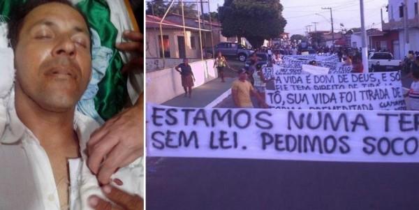 Gilvandro Monteiro Fonseca, o Tô, e a manivestação da população de Apicum-Açu do MA