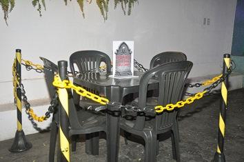 Mesa reservada chamou a atenção de quem curtiu a noite em alguns bares de Imperatriz.
