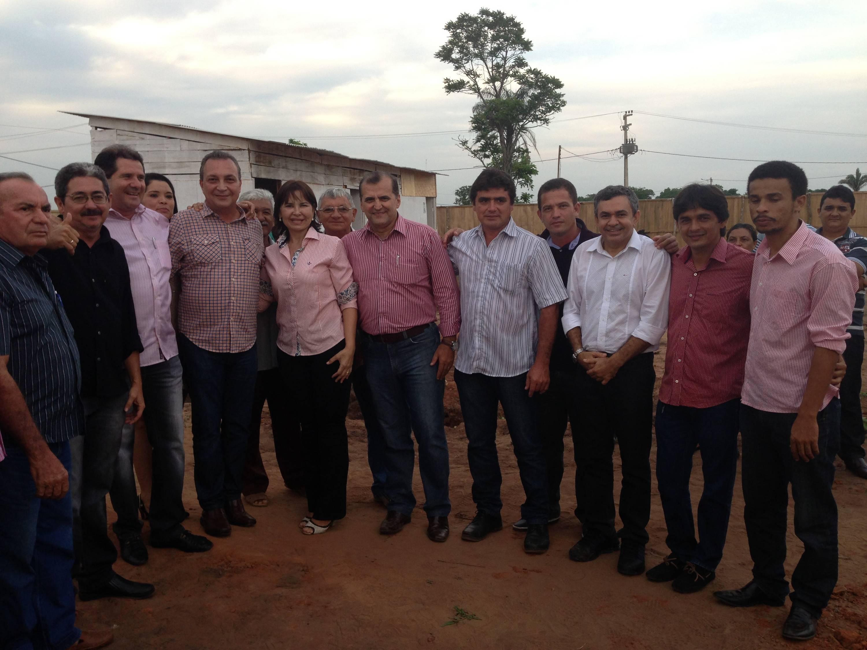 Antonio Pereira, Luis Fernando, Ana Isabel e os vereadores de Tuntum