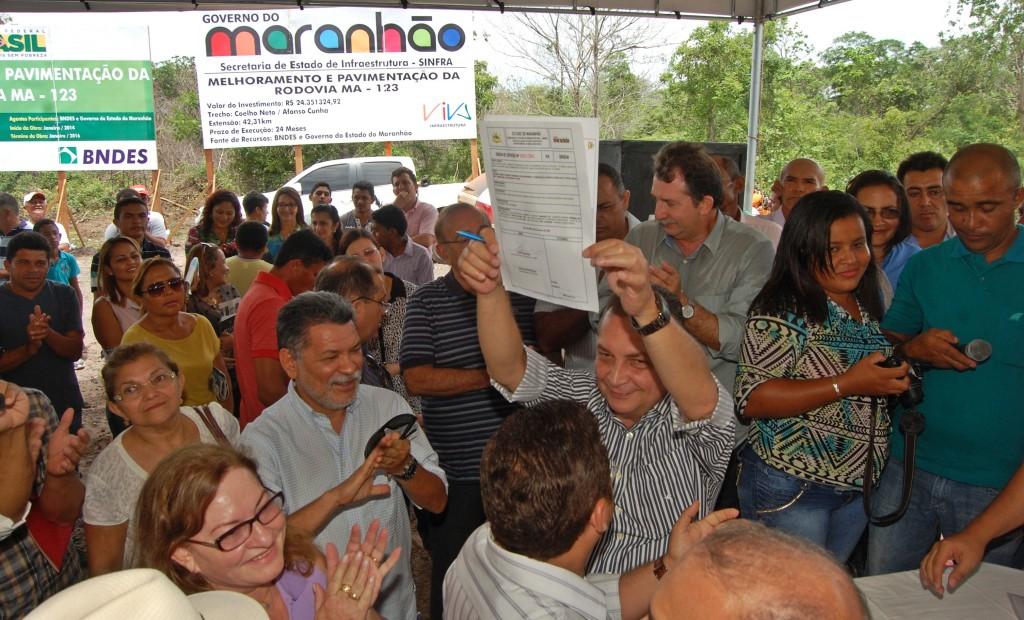 Foto 2 - Ordem de serviço Afonso Cunha e Coleho Neto