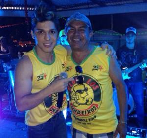 Luckas Seabra e Luis Cardoso, na primeira prévia do bloco Los Sendeiros.