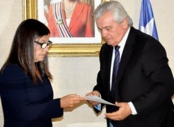 Roseana em companhia de Arnaldo Melo.
