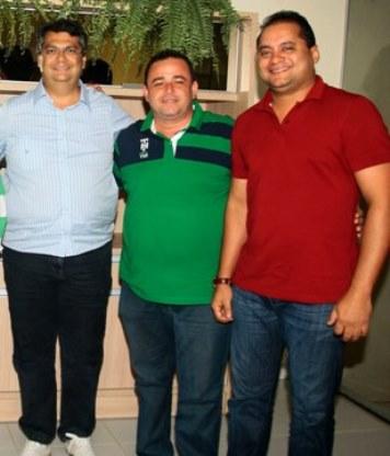 Flávio Dino, o vice-prefeito de Igarapé Grande, Erlanio Xavier que foi preso pela Polícia Federal e o deputado Weverton Rocha, alvo de investigação por suposto esquema de receber propina.