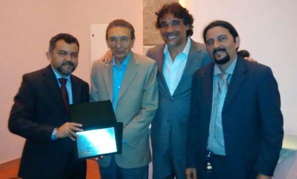 Deputado federal Cleber Verde, ministro de Minas Energia Edison Lobão, suplente de senador Lobão Filho e o ex-superintendente de Pesca do Maranhão, Júnior Verde.