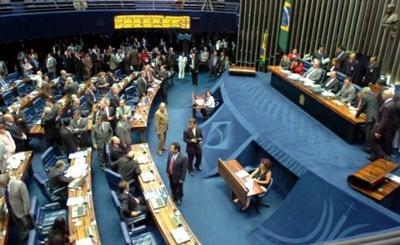 Senadores durante campanha.