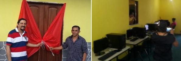 Em Serrano do Maranhão, Verde inaugurou o Telecentro que disponibiliza acesso a  internet e curso de informatica,