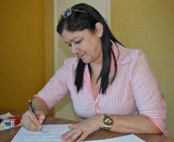 A prefeita Eunice Damasceno.