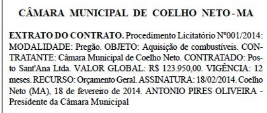 Câmara de Coelho Neto - 6 de Junho.