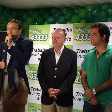 Ministro Edison Lobão senador José Sarney e o deputado Edilázio Júnior