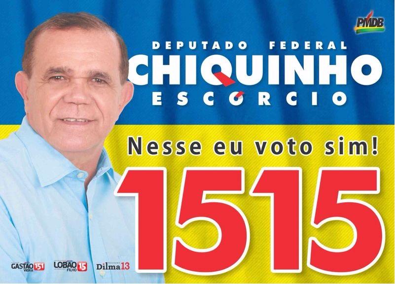 Deputado Federal Chiquinho Escórcio - 1515