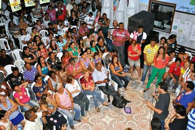 Auditório ficou pequeno para tanta gente que defende o nome de Glalbert em Paço do Lumiar.