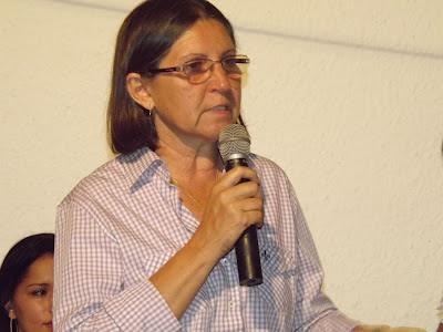 Prefeita do município de Paraibano, Maria Aparecida Queiroz Furtado.