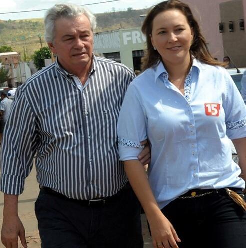Arnaldo Melo e a filha Nina Melo.