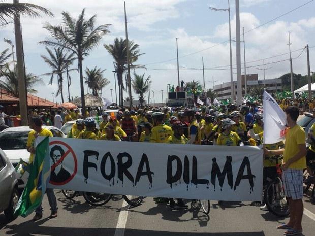 Milhares de pessoas participam de manifestação contra governo Dilma Rousseff (Foto: Lucas Vieira/G1)