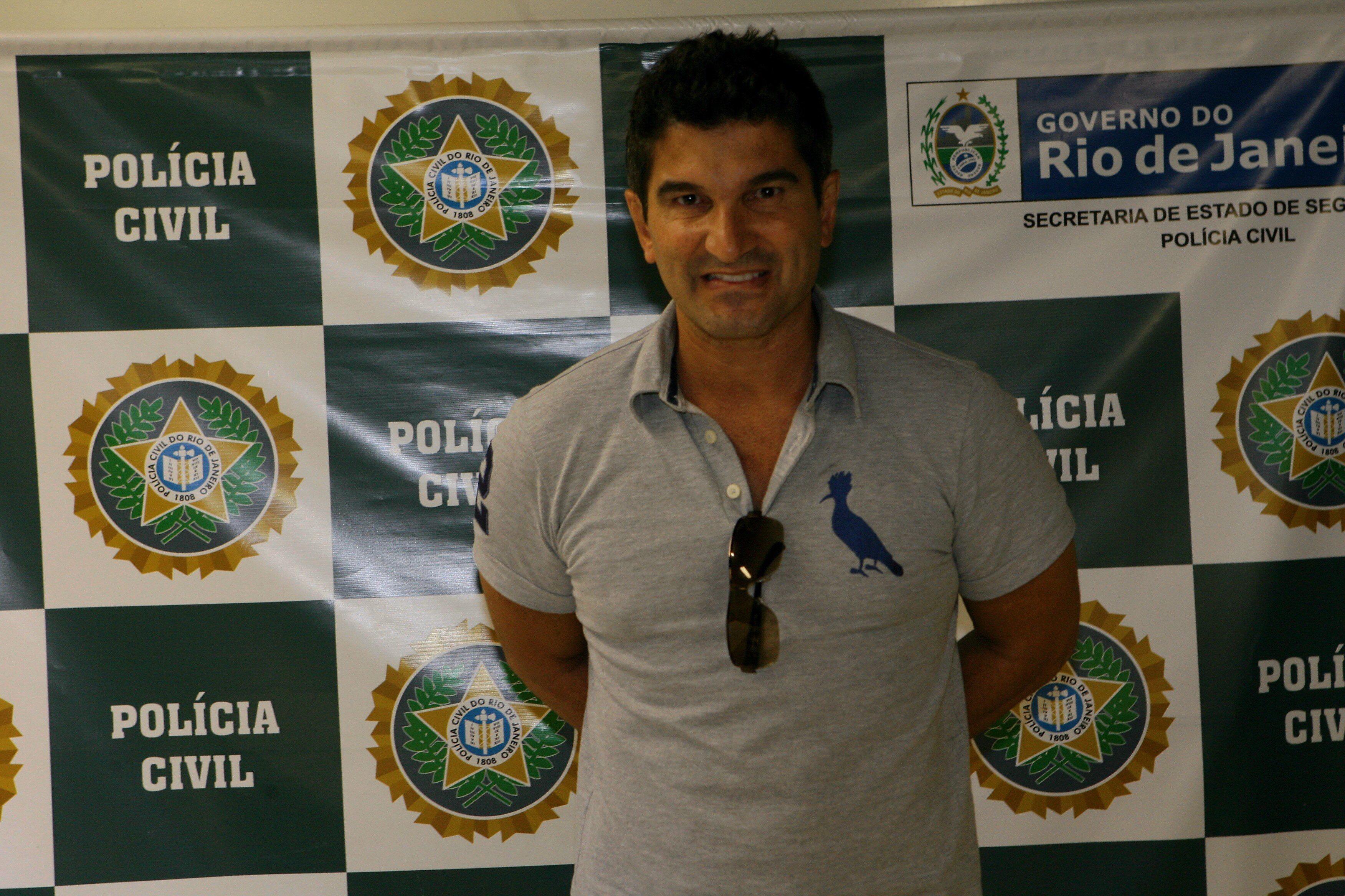 Empresario Alessandro Martins quando foi preso pela Polícia Civil.