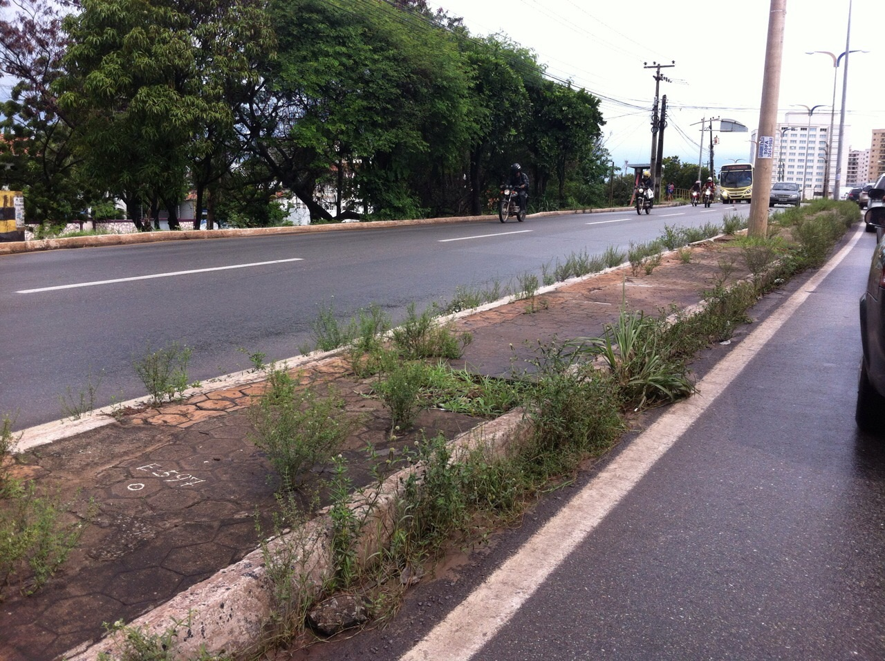 Avenida próximo do bairro Cohafuma. (Foto: Hilton Franco)